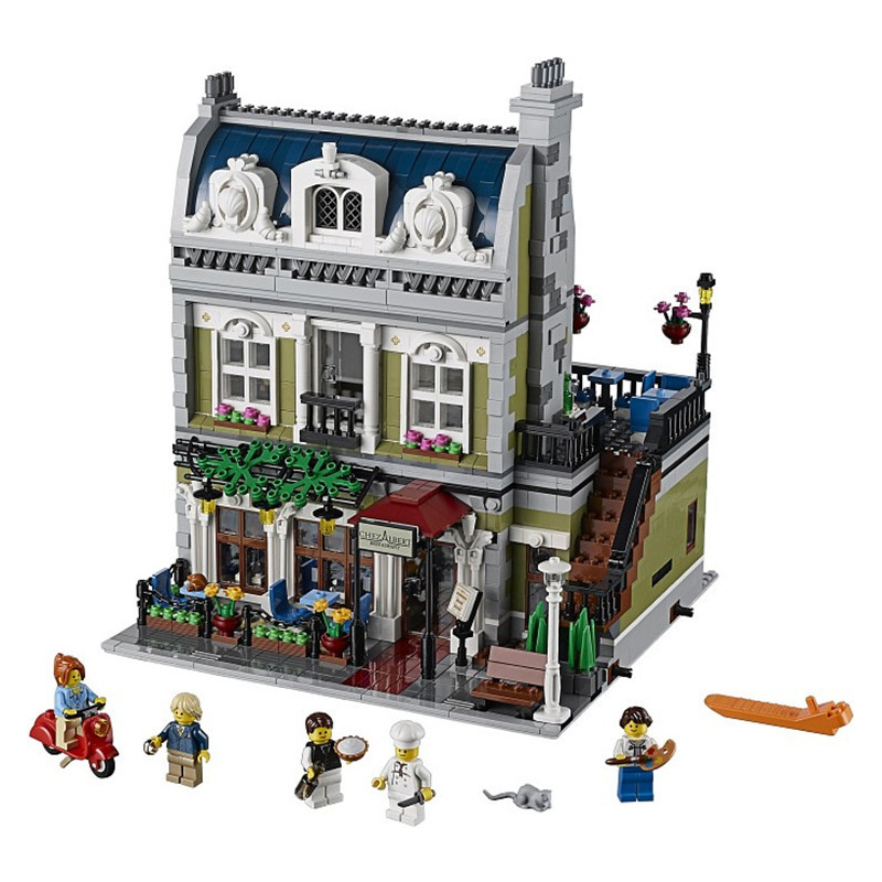 15010/30007 City Street Series Creator Expert Parisian Restaurant House Model Building Blocks Bricks compatiable with lego new lepin 15010 expert city street parisian restaurant model building kits blocks funny children toys compatible with 10243 gift