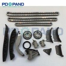 Комплект цепи ГРМ для KIA Sorento 2,5 CRDI 2005 для hyundai H-1 H200 Starex Porter SATELLITE 2006-D4CB распределение двигателя