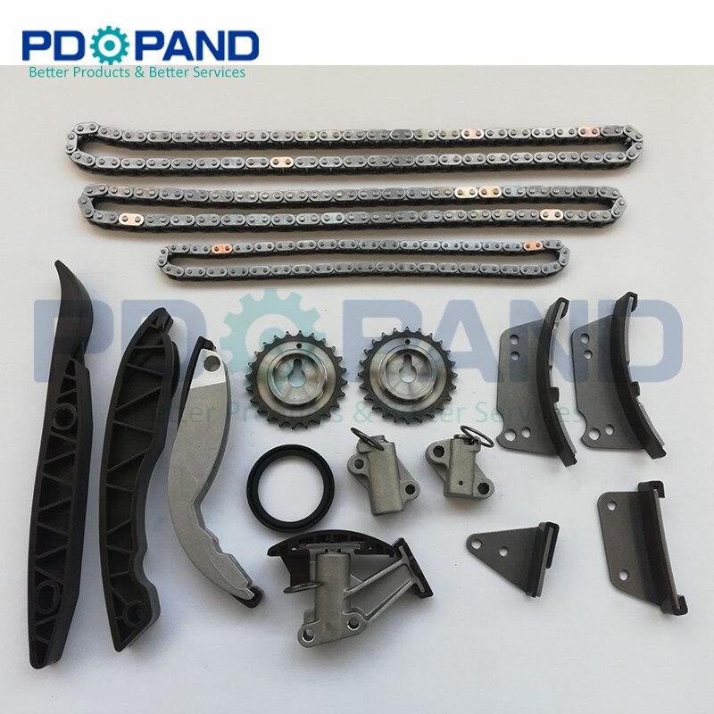 Zamanlama zinciri kiti için KIA Sorento 2.5 CRDI 2005 Için Hyundai H-1 H200 Starex Porter UYDU 2006-D4CB Motor dağıtım