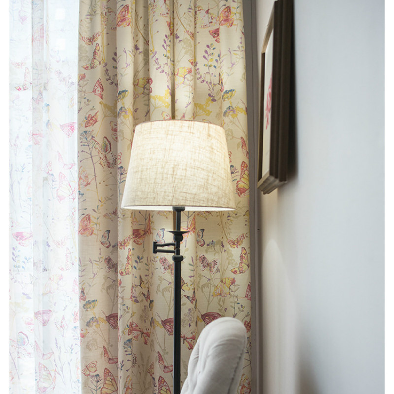Dream Modern Curtains For Bedroom Living Room Thicker Printed Curtain Fabric American Idyllic Flower High Shade