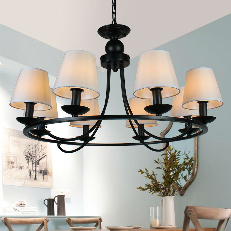 Cheap Dining Room Chandeliers: American Country Iron Chandelier Cheap 4 Arm 6 8 L..,Lighting