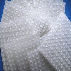 50 sztuk/zestaw podkładka silikonowa samoprzylepne stopy zderzaki jasne półkole zderzaki drzwi szafka szuflady bufor klocki silikonowe stopy