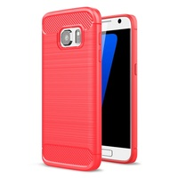 Case For Galaxy S7 SM G930 Mobile Phone Bag Carbon Fibre Brushed TPU Phone Cases For