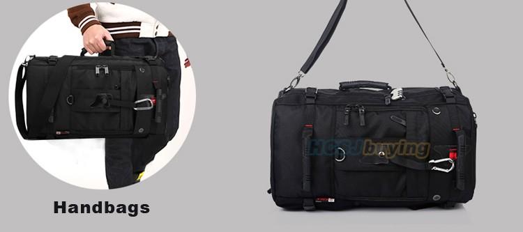 KAKA Men Backpack Travel Bag Large Capacity Versatile Utility Mountaineering Multifunctional Waterproof Backpack Luggage Bag 13