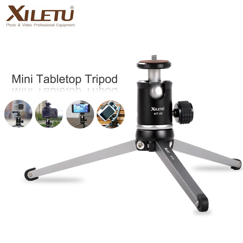 Aluminum Alloy Mini Table Portable Tripod for Cellphone and SLR Cameras