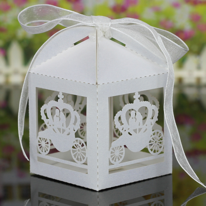 5Halloween Party Favor Candy Gift Boxes Butterfly Cake Style Box Ribbon Wedding Decorations - Shop1372007 Store store