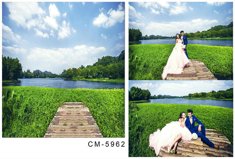 US $13 99 |5X7ft Lakeside Scenic Photography Vinyl Backdrop Muslin Computer  Printed Fabric Backgrounds Studio Backdrops-in Background from Consumer