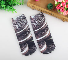 Cool 3D DIY Printed kids Socks Pretty Cotton Socks for Boys Girls Fashion Big Size Students Ankle Socks Kids Clothes Accessories(China)