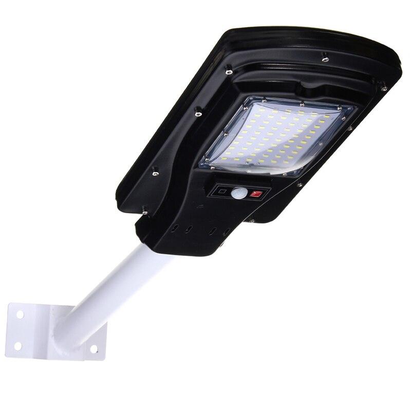 Waterproof Motion Sensor 30W 60 LED Solar Light  2835 smd Solar Panel LED Street Light Outdoor Lighting With Remote Controller ds 360 solar sensor led light black