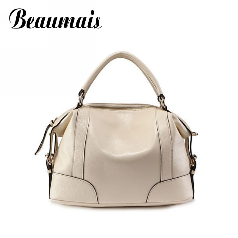 ФОТО Beaumais Genuine leather bag 7 colors vintage brand bag  quality women handbag  2017 hot sale classic women shoulder bag BG001