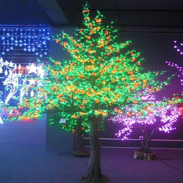 3Meters 3808LEDS artificial fruit light with outdoor lighting bulbs for Christmas holiday decoration