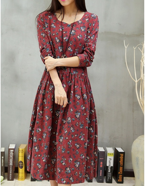 Autumn/spring Pregnant dresses Maternity Clothing Materniry Dresses linen and cotton Maternity skirt womens clothes 15458