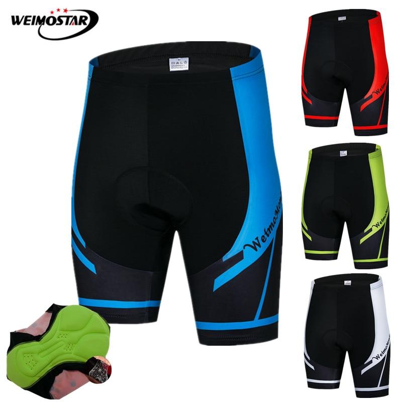 Weimostar Shockproof Cycling Shorts Men 4D Gel Padded Coolmax Bike Mtb Shorts Road Downhill Bicycle Shorts Bermuda Ciclismo