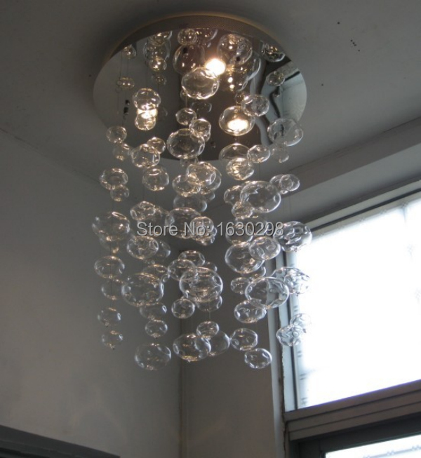 H60 100cm Murano Due Bubble Glass Ceiling Lights Lampara Techo Hanging Light Led Suspension Home Living Room Lamp Modern