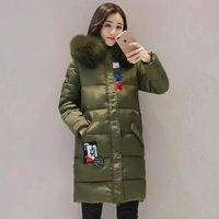 Winter Women Coat Jacket Warm High Quality Woman long Park Jacket Winter Hooded artificial Fur collor 2017 New Winter Collection