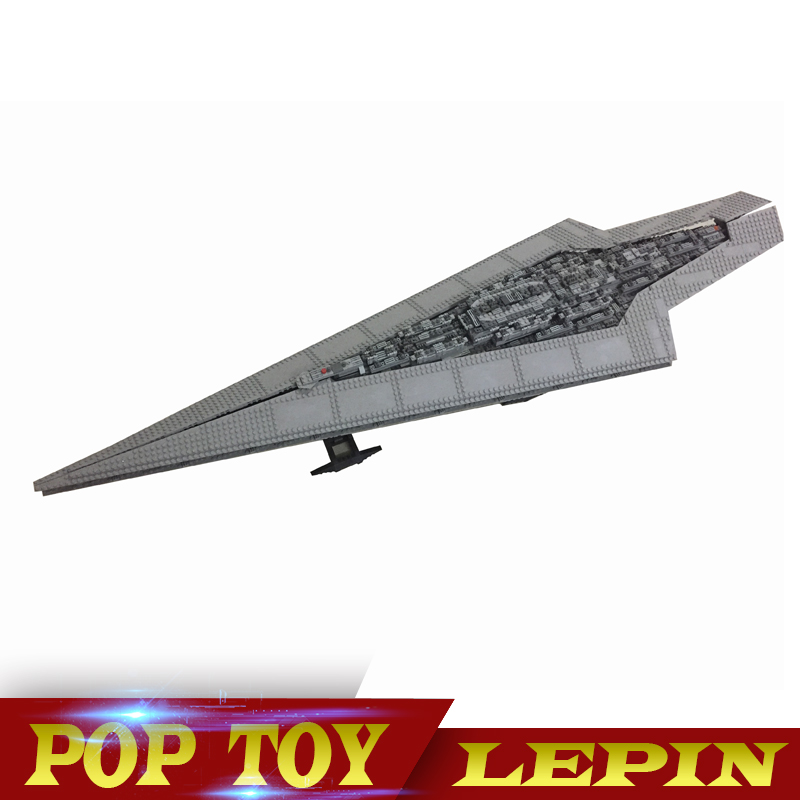 New Lepin 05028 3208pcs Star Set Wars Execytor Super Star Destroyer Model Building Kit Block Brick Toy Compatible legoed 10221 new lepin 16009 1151pcs queen anne s revenge pirates of the caribbean building blocks set compatible legoed with 4195 children