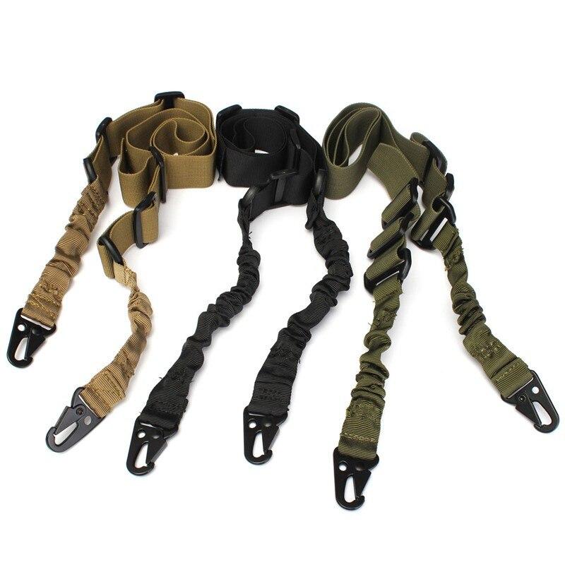 새로운 사냥 용 벨트 전술 군사 야외 전술적 인 SingleTwo 포인트 총 로프 조절 가능한 라이플 총 슬링 / 스트랩