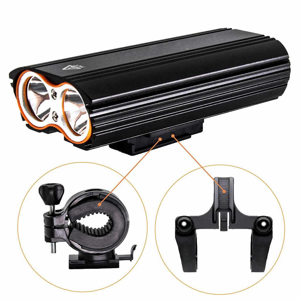 Головной свет светодиодный перезаряжаемый велосипедный велосипед USB лампа вращающееся крепление с велосипедный фонарь водонепроницаемый велосипедный Безопасный Прочный # JX