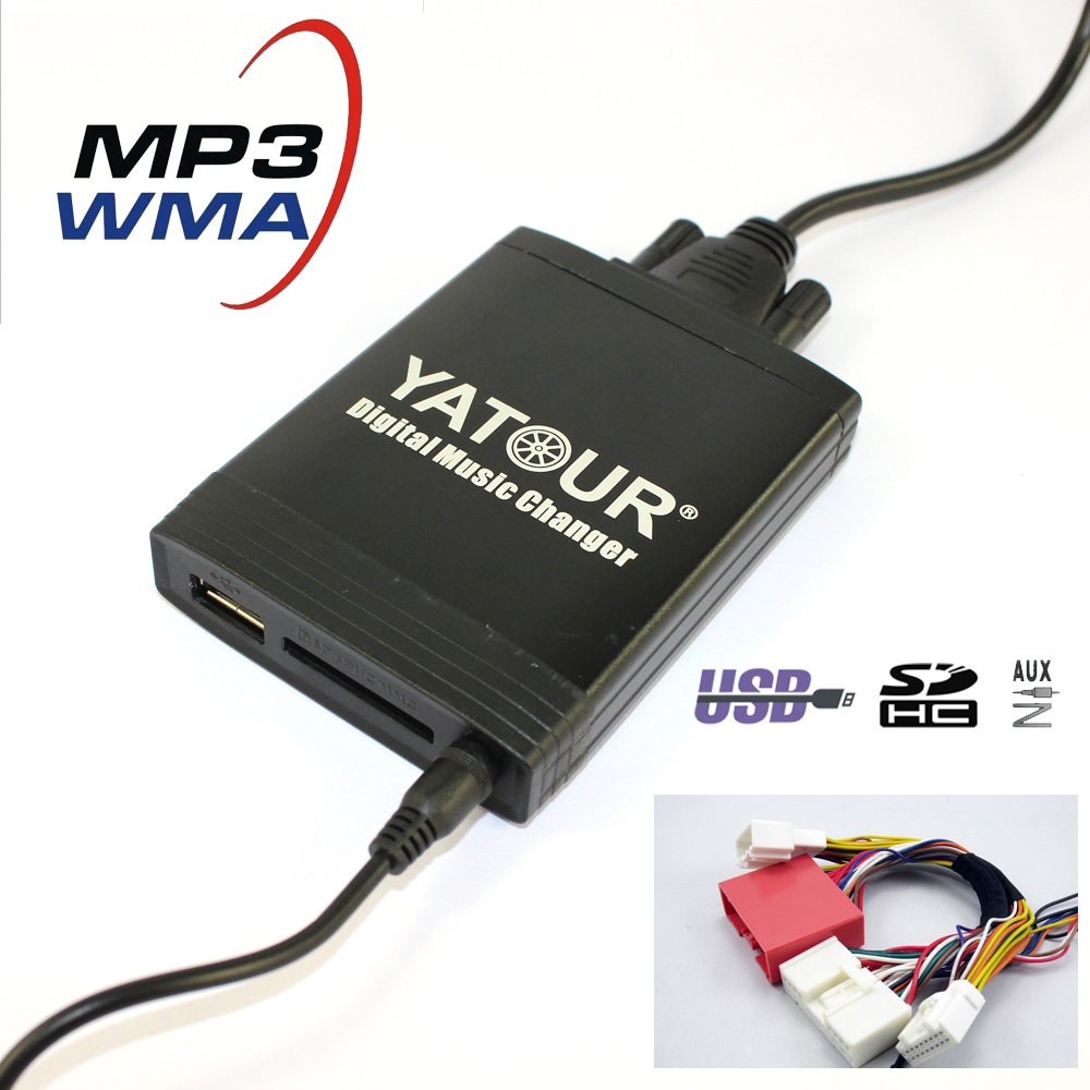 Yatour YT-M06  Digital music changer For Mazda 3 5 6 cx-7 rx 8 2009-2012 Car MP3 interface USB SD MP3 SD AUX adapter yatour for alfa romeo 147 156 159 brera gt spider mito car digital music changer usb mp3 aux adapter blaupunkt connect nav