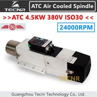 4 5KW ATC Air Cooled Spindle Motor 24000RPM ISO30 380V Automatic Tool Change Spindle For Woodworking