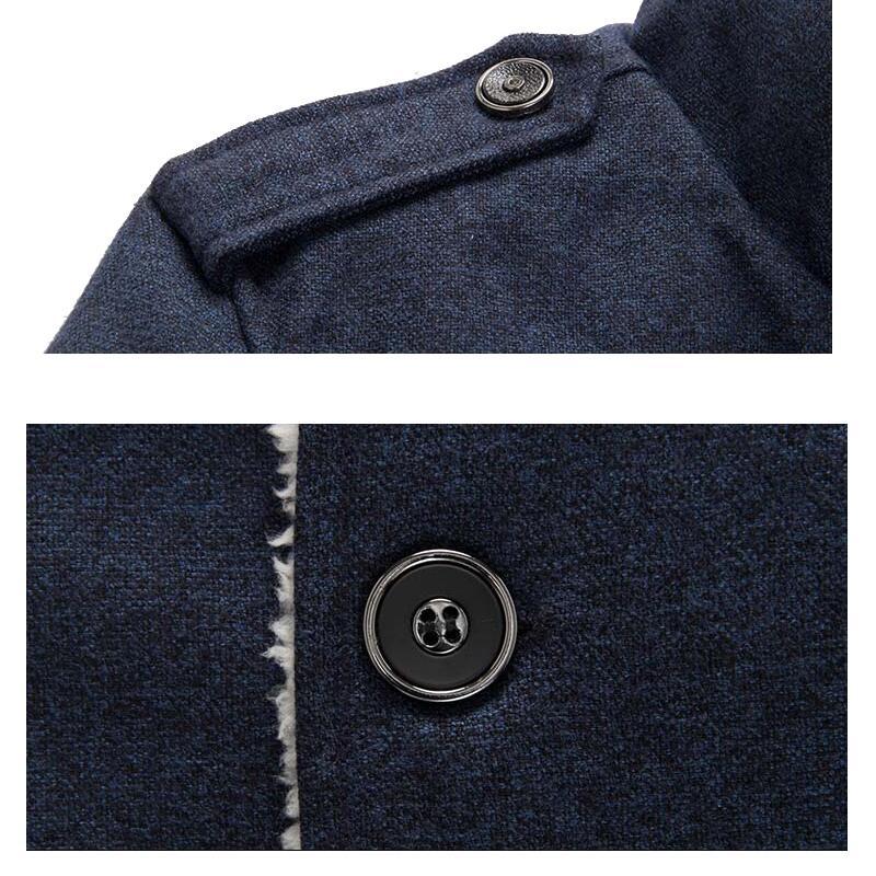 Mountainskin Winter Men's Coat Fleece Lined Thick Warm Woolen Coats Autumn Overcoat Male Wool Blend Jackets Brand Clothing SA607 5