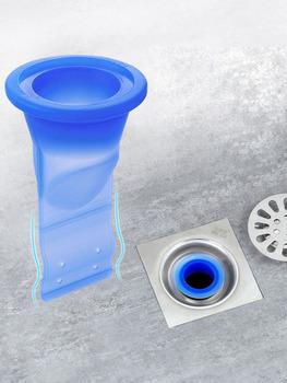 Łazienka odporny na nieprzyjemne zapachy rdzeń silikonowy w dół fajka wodna drainner core kuchnia kanalizacja łazienkowa wyciek uszczelki tanie i dobre opinie Z tworzywa sztucznego Typ dezodoryzacji 2 6 cal Piętro Wspólna wpustu ROUND Kanalizacji Szczotkowane YSJ2220