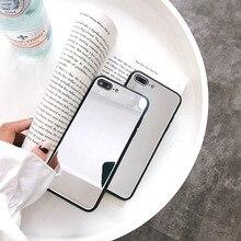 Luxury Mirror Soft TPU Phone Case For iPhoneX XS XS Max 7 7Plus 8 Plus 5 5S SE 6 6S 6Plus 6SPlus Back Cover Capa Shell