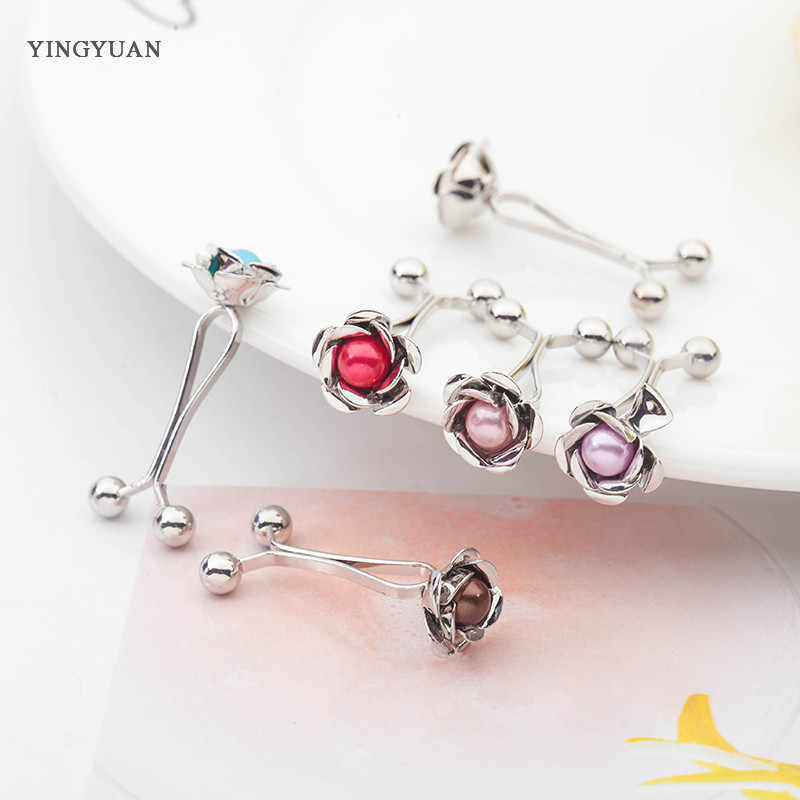 SP55  12 Pcs Muslim Hijab clip Trendy Dual Fashion Brooches & Scarf Clip Alloy Brooch Garment Accessories Women Ladies Brooches