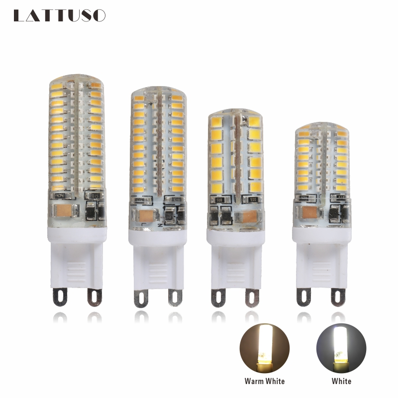 LATTUSO G9 LED lamp AC 220v LED bulb 48 64 96 104 LEDS SMD 2835 3014 led light for Chandelier spotlight replace halogen lamp iminovo 20 pack e14 led light bulb ac 220v 6w 2835 smd ceramics spotlight replace halogen spotlight chandelier warm cool white