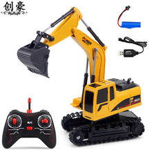 Rc Excavator Model Engineering Car 6CH Wireless Diecast Metal Plastic Remote Control Excavator Toys Kids Children large 11 channels rc excavator rc car remote control toys car electric excavator charging electric vehicle toys for kids boys