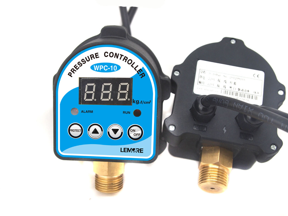 Free Shipping Digital Pressure Control Switch WPC-10 Digital Display Pressure Controller For Water Pump free shipping kpi36 060 1189 pressure controller switch relay pressure switch automatic reset g1 4a 4 12bar
