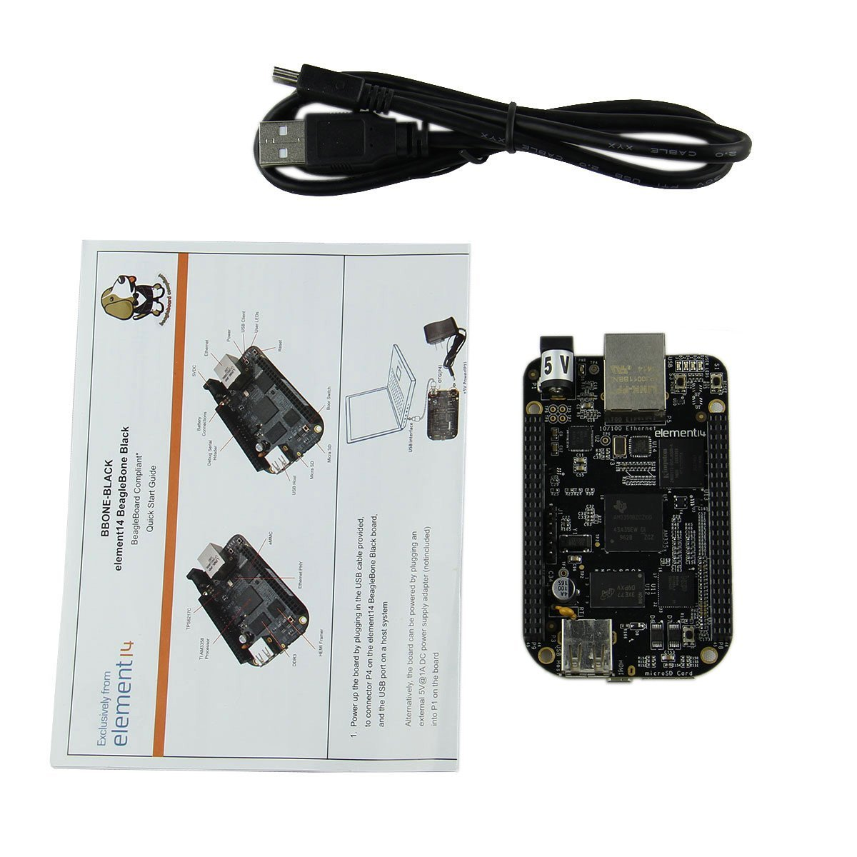 Embest BeagleBone BB Black 1GHz TI AM3358x Cortex A8 Development Board REV C Version