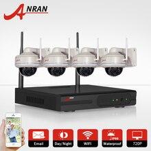 ANRAN Plug & Play 4CH Беспроводной NVR Системы ВИДЕОНАБЛЮДЕНИЯ 720 P HD Открытый антивандальные Купольные Ip-камеры Безопасности WIFI Surveillance Kit 1 ТБ HDD