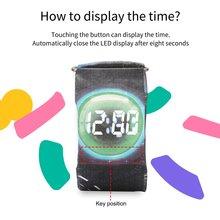 Оригинальные обои повседневные водонепроницаемые часы бумага ремешок магнитный замок-пряжка ультра легкий светодиодный цифровой с роскошной коробкой для унисекс