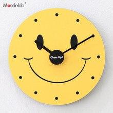 Mandelda Wall Clock Yellow Relojes De Pared Vintage Decorativo Home Decoration Accessories Modern Living Room