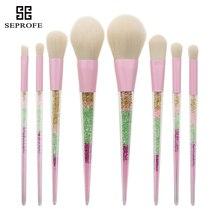 купить 8 Pcs Makeup Brushes Rainbow Diamond Handle Facial Contour Make Up Brush Fiber Hair Set Foundation Eyeshadow Powder Beauty Tools дешево