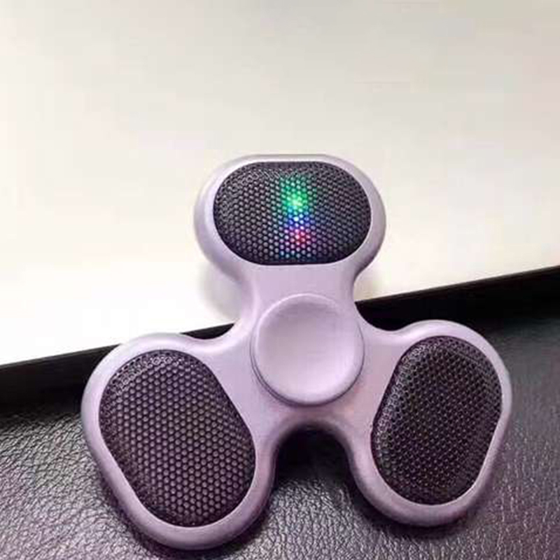 Finger Spinner Speaker Support SD TF Card Speaker Hand Spinner Creative LED Hand Tri Spinner