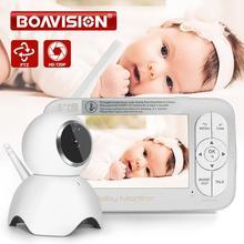 Monitor de bebé inalámbrico HD 720P, PTZ, 360 grados, 5 pulgadas, LCD, cámara con zoom para bebé, visión nocturna, niñera, cámara de seguridad de vídeo