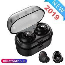 Невидимый Мини Bluetooth 5,0 Беспроводной наушники СПЦ наушники стерео глубокий бас гарнитуры с автоматической зарядки ящика синий зуб наушники вкладыши