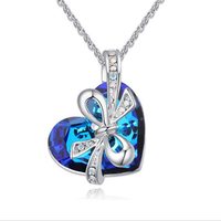 2017 New Thermal Hollow Three Dimensional Knot Five Star Pendant Female Heart Of The Sea Blue