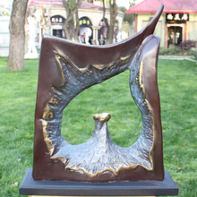 With copper bronze sculpture art crafts heart like decoration Home Furnishing business gifts