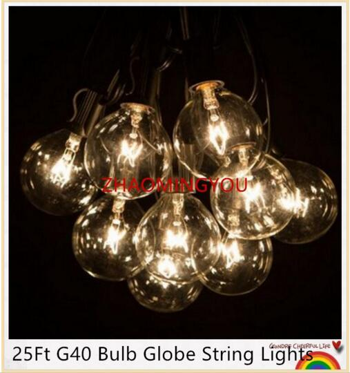 10X 25Ft G40 Bulb Globe String Lights With Clear Bulbs Backyard Patio Lights,  Vintage Bulbs ,Decorative Outdoor Garland Wedding In Lighting Strings From  ...