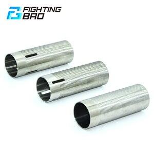 Image 1 - FightingBro cilindro de acero inoxidable para pistola de aire AEG, caja de engranajes de pistola de aire de Paintball M4 AK Gel, 75%, 80%,