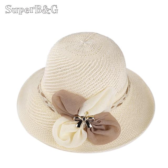SuperB G Fashion Designer Summer Sun Hat Ladies Summer Beach Cap Women  Shade Sun Hats Female Big 3b2300ce27e