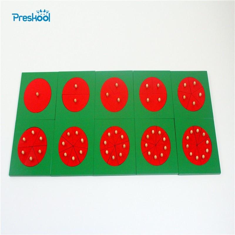 Bébé jouet Montessori forme géométrie Division conseil bois pour l'éducation de la petite enfance préscolaire enfants Brinquedos Juguetes