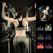 Wirefree Fitness Workout Running Athletic Sport Bra Removable Pads Tank Top
