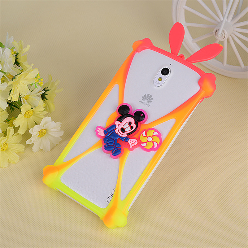 Cute Cartoon Silicone Universal Cell Phone Holster <font><b>Cases</b></font> <font><b>For</b></font> <font><b>DEXP</b></font> <font><b>Ixion</b></font> ES5 ES25 <font><b>ML150</b></font> M LTE ES145 EL150 ES2 M350 M150 Cover image