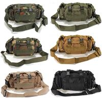 Canvas Utility Camouflage Military Tactical Waist Bags Assault Backpack Mountain Bicycle Bike Outdoor Messager Bag