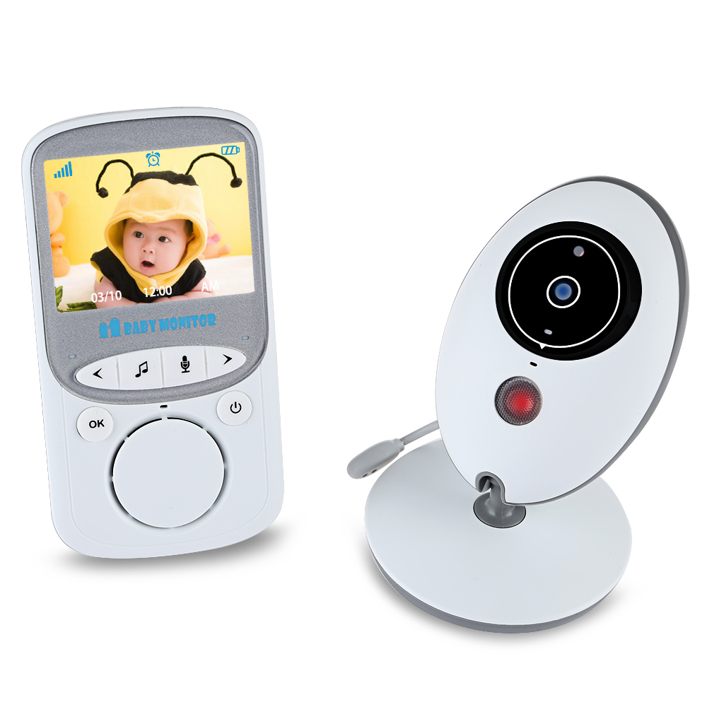 VB605 Wireless LCD Audio Video Baby Monitor Radio Music Intercom IR 24h Portable Baby Camera Baby Walkie Talkie Babysitter care