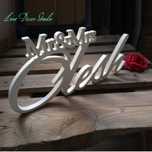 Mr & Mrs Wedding top table, Wedding Sign Mr & Mrs Last Name Table Sign, Wedding Decor Wooden Letters Mr & Mrs sign